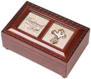 Cottage Garden Confirmation Inspirational Woodgrain Petite Music Box Plays Amazing Grace