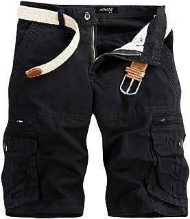 comprar comparacion Subfamily - Shorts Cargo de Verano para Hombre Pantalones Cortos Deportivos de Entrenamiento de Cintura elástica para Corr...