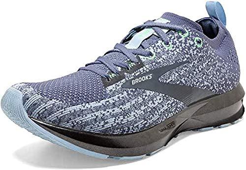 Brooks Womens Levitate 3 Running Shoe - Kentucky Blue/Mint/Grey - B - 8.0