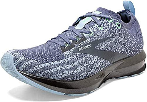 Brooks Womens Levitate 3 Running Shoe - Kentucky Blue/Mint/Grey - B - 8.0