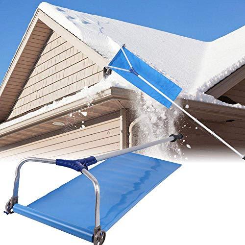 liu Dach Schnee Removal Tool, Dach Schnee Rake mit verstellbarem Teleskopgriff Dach Schnee Rake Removal Tool 20 Ft ausziehbarer Griff for einfache Handhabung von Speichern