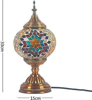 Lámpara de mesa de mosaico hecha a mano de metal y cristal ...