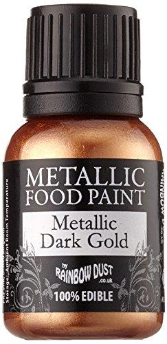 Rainbow Dust Essbare Metallisch Lebensmittel Farbe Event Dark Gold