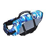 Gilet de sauvetage pour chien avec poignée pour la sécurité de l'eau à la plage, à la piscine, en bateau (L)