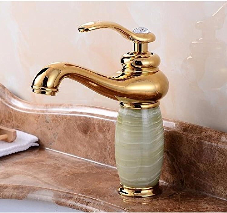 ETERNAL QUALITY Bad Waschbecken Wasserhahn Küche Waschbecken Wasserhahn Jade Marmorbecken Voll Kupfer Heien Und Kalten Wasserhahn Waschtischmischer BQ1901ca