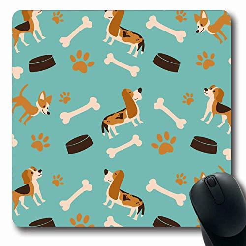 Alfombrillas para computadoras Arte Beagle Diversión Vacaciones de verano Pijamas para bebés Cubrecama Clip para huesos Diseño lindo del perro Bocadillo Oblong antideslizante Alfombrilla de ratón para