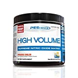 PEScience High Volume Nitric Oxide Booster Pre Workout Powder with L Arginine Nitrate, Paradise Cooler, 36 Scoops, Caffeine Free