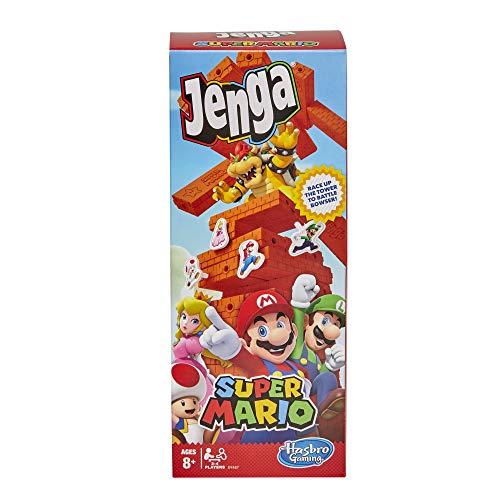 Jenga Super Mario Edition Spiel, Block Stapelturm Spiel für Super Mario Fans, ab 8 Jahren