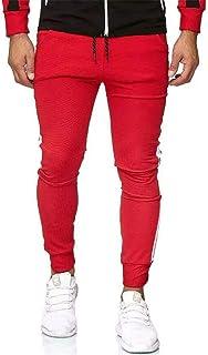 UMore Pantalones de Chándal de Algodón para Hombre Pantalones Deportivos Suaves para Correr Gimnasio Fitness Jogging