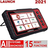 LAUNCH CRP909C Automotive Diagnostic Scanner with 7'' Touch Screen, All Systems OBD2 Scanner Auto Scan Tool Car Code Reader Including 15 Service Functions Oil Reset, ABS, SRS, EPB, SAS, etc.