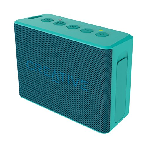 Creative MUVO 2c - Leistungsstarker, kompakter, wetterfester Wireless Bluetooth Lautsprecher (für Apple iOS/Android Smartphone, Tablet/MP3) türkis