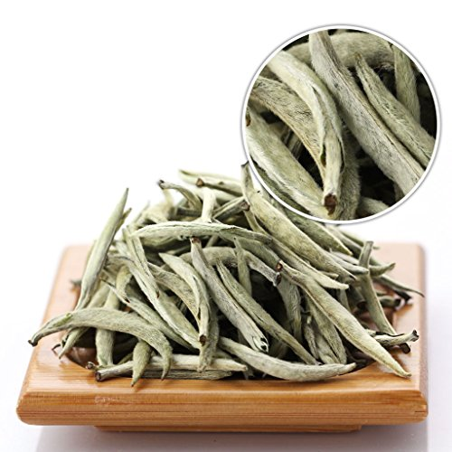 GOARTEA 250g (8.8 Oz) Premium Chinese Organic Bai Hao Yin Zhen BaiHaoYinZhen Silver Needle White Loose Tea Tee