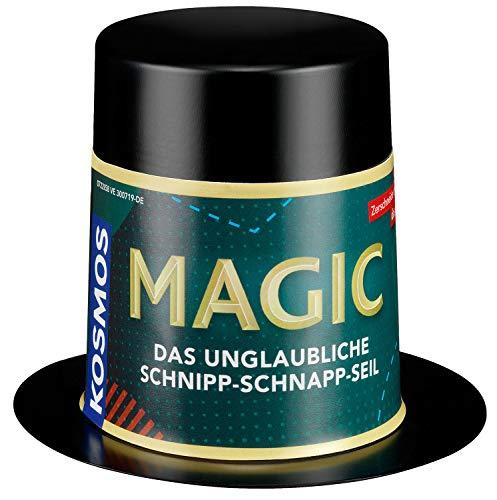 KOSMOS 601737 Magic Mini Zauberhut - Das unglaubliche Schnipp-Schnapp-Seil Zauber-Set