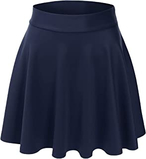 Women's Versatile Elastic Stretchy Flared Casual Mini Skater Skirt (S-3XL)