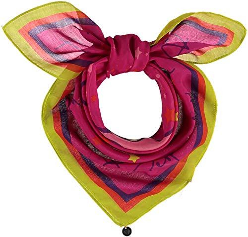 FRAAS Horoskop Zodiac Halstuch für Damen & Herren - Bandana Tuch mit Sternzeichen Design - Nickituch aus 75% Wolle & 25% Seide - 65 x 65 cm, Stier Fuchsia