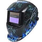 Leopard LEO-WH86 Funciona con Energía Solar + Oscurecimiento Automático + Función De Rectificado + 9-13 Sombra Máscara De Casco De Soldadura con 5 Lentes De Repuesto Gratis | Focos