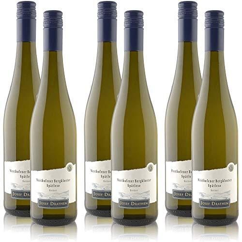 6 Flaschen Westhofener Bergkloster Spätlese Kerner Prädikatswein, süß (6 x 0,75 l)