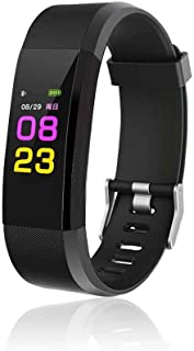 nurrat Smart Wristband with Heart Rate Monitor/Sleep Quality Monitor/Steps Counter/GPS Tracker and More, Smart Wristband Watch for Android and iOS Clips, Arm & Wristbands