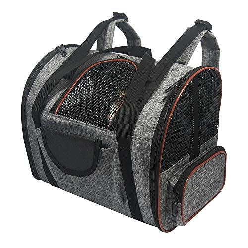 Haodasi Faltbarer Haustier Rucksack Katzentransporttasche Hundetransportbox Doppelte Schultertasche für Reise im Freien von Auto
