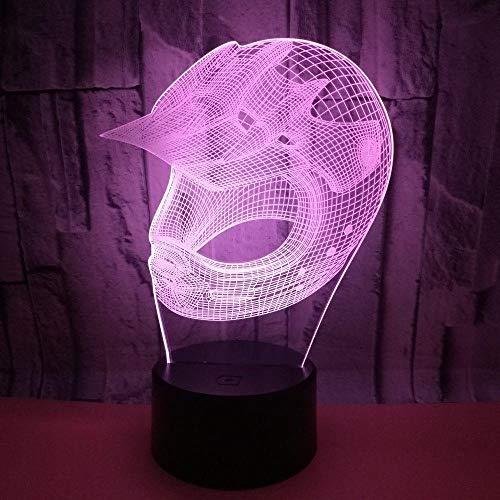 XHYYD 3D Nachtlicht Tischleuchte 16 Farben berühren und Fernbedienung Geschenkbox, Sport Sturmhaube, Nachtlicht Kreative Illusion Visuelle Lampe Led Schlafzimmer Dekoration Urlaub Geschenke RGB Änderu