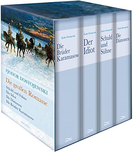 Fjodor Dostojewski, Die großen Romane (Schuld und Sühne - Der Idiot - Die Dämonen - Die Brüder Karamasow) (4 Bände im Schuber)