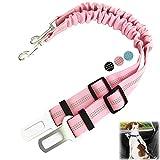 Cintura di Sicurezza per Cani, 2 Pezzi, Cintura di sicurezza per auto per animali domestici regolabile ed elastica, Con moschettone, Adatto a cani, gatti e una varietà di animali In macchina