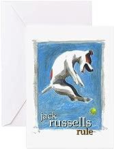 CafePress Jack Russells Rule Greeting Card, Note Card, Birthday Card, Blank Inside Matte