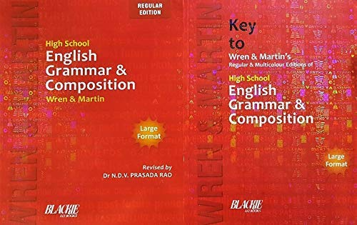 High School Wren and Martin English Grammar and Composition (Regular Edition) + Key to Wren and Martin English Grammar & Composition - COMBO