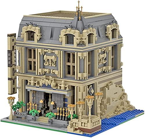 Modelo de ladrillos para sala de estar compatible con Lego, MOC pequeñas partículas arquitectura construcción construcción juguete para adultos, MOC-14123 (3802 piezas)