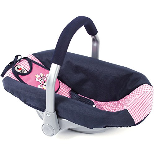 Bayer Chic 2000 708 46 Autositz für Baby-Puppen, Navy-pink