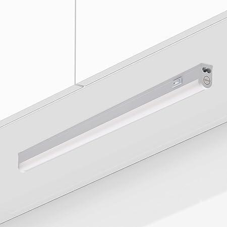 Réglette LED 9W raccordable avec interrupteur RIGA Blanc chaud 3000K 60cm Meuble sous Cuisine Atelier Garage Cave Grenier