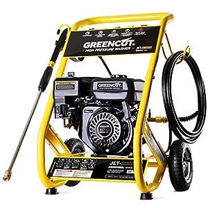 GREENCUT JET260X – Hidrolimpiadora de gasolina 2321PSI motor OHV 4 tiempos de 208cc 8cv alta presión 160bars Limpieza Exteriores, Vehículos, Máquinas