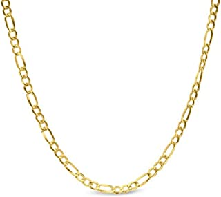 14K Yellow Gold 2.5mm Figaro 3+1 Link Chain Necklace - Multiple lengths available