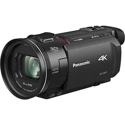 Panasonic HC-VXF1 - Videocámara Semi-Profesional de 24x, Gran Visor Eletrónico, O.I.S de 5 Ejes, Objetivo Leica F1.8 - F4, Zoom 25 mm - 600 mm, 4K, HD, Color Negro