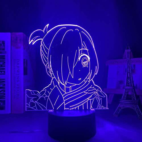 GEZHF 3D luz nocturna ilusión japonesa anime decoración LED anime inodoro Hanako Kun Yahiro Nene Anime luz LED para decoración de dormitorio niños regalo de cumpleaños manga noche lámpara