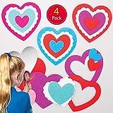 Baker Ross Herz Taschenspiegel Bastelsets für Kinder (4 Stück) Kreativset zum Basteln zu...