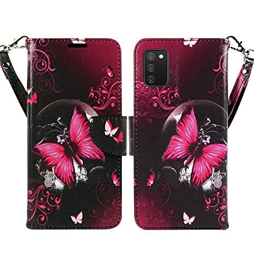 ZASE Schutzhülle für Samsung Galaxy A02S (2021) (Hot Pink Butterfly)