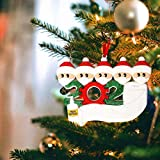 Microgadget 2020 Christmas Soft Ornament Xmas Tree Decoration Quarantine Survivor Family Personalized Xmas Gift (Family 5)