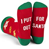 Lavley - I Put Out For Santa Funny Christmas Holiday Novelty Crew Socks For Men & Women - Christmas Gift, Stocking Stuffer, Secret Santa Present