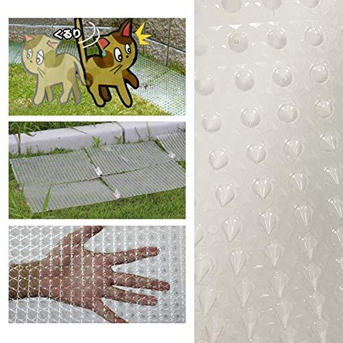 seawardi Autoteppiche 5PCS Nagel Kunststoff Garten Wohnung Kunststoff Stecker Anti-Gatto transparent Farbe Katze und Hund Mückenkissen für Garten/Blume