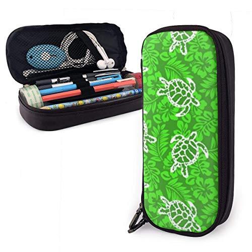 Pencil Case Big Capacity Pen Pouch Bag Leder Haltbare Studenten Briefpapier Box Organizer für Schulbüro Hot Sea Turtle Hawaiian Summer Surf
