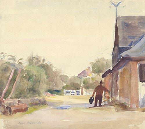 Sulis Fine Art Jean Dryden Alexander (1911-1994) - Acuarela Blythe's Farmyard, Frinton