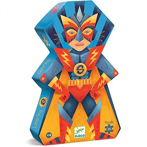 Puzzle Silueta Super Heroe 36 Piezas