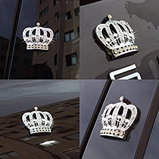 Car Auto Chrome Crown Emblems Badges Stickers Decor (Sliver)