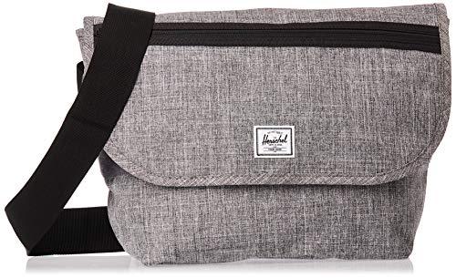 Herschel Grade Messenger Bag, Raven Crosshatch, Mid-Volume