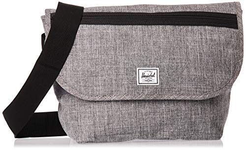 Herschel Grade Messenger Bag, Raven Crosshatch, Classic