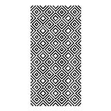 Alfombra Vinílica para Cocina, 80 x 40 cm, Rombos Negros, Alfombra de Vinilo Antideslizante y Lavable, Multiuso, ALV-029