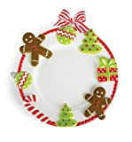 Cute and festive Mud Pie Candy Cane Dinner Plate, 11-Inch Diameter