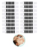 Xinhongo Forehead Temperature Thermometer Strips-18 Pcs Instant Read Forehead Thermometer Strips,Reusable Thermometer Strip for Checking Baby Kid Adult Temperature,95℉to 104℉,Travel-Sized
