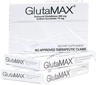 3 Boxes of Glutamax Reduced L-Glutathione & Sodium Ascorbate Capsules - 30 Capsules